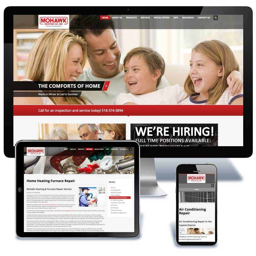 Mohawk Heat Company Website Design